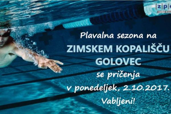 Zimsko kopališče Golovec – plavalna sezona 2017
