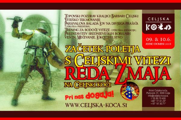 Začetek poletja s Celjskimi vitezi REDA ZMAJA na Celjski koči