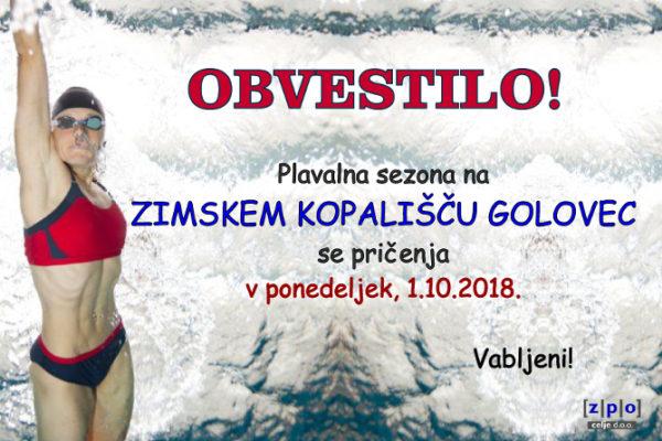 Kmalu bomo spet plavali na Zimskem kopališču Golovec
