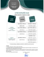 Letno kopališče – dodatne storitve