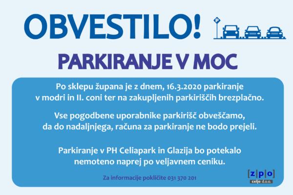 Parkiranje v MOC
