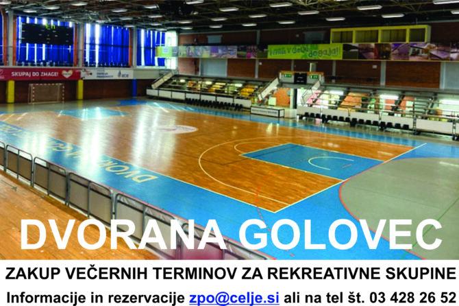 Povabite prijatelje na rekreacijo v Dvorano Golovec!