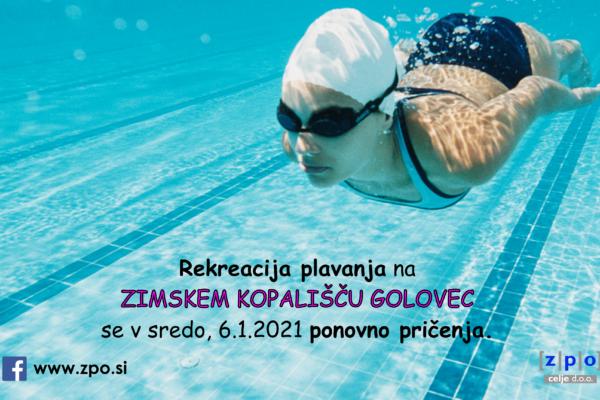 Od jutri dalje bo Zimsko kopališče ponovno odprto za rekreacijo!