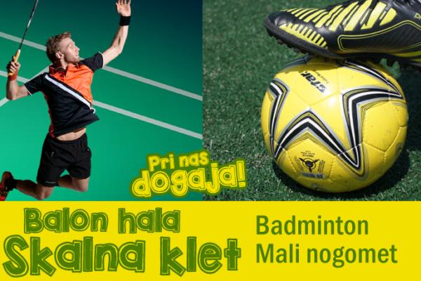 Balon hala Skalna klet – pričetek rekreacije v ponedeljek, 8.1.2018