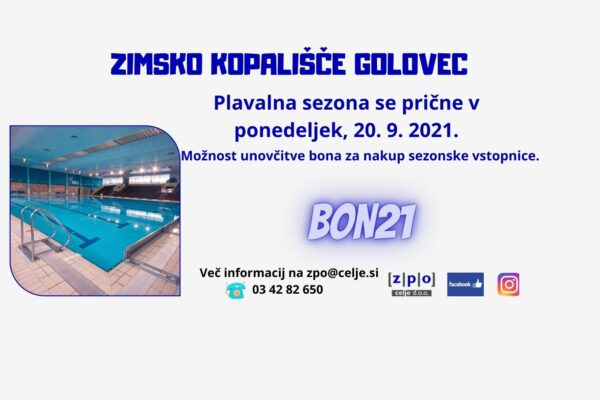 Še malo in dočakali bomo pričetek plavalne sezone na Zimskem kopališču Golovec!
